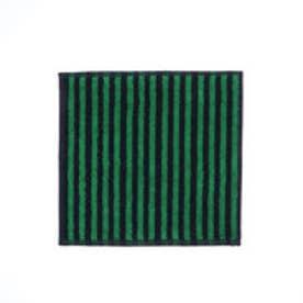 ミニ タオル 30×30cm (カクシライタ×緑・紺)