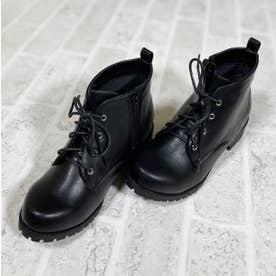Mafmof(マフモフ) 防水タンクソールレースアップ ブーツ (ブラック・PU)