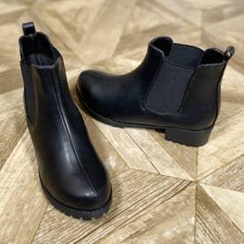 Mafmof(マフモフ) 防水タンクソールサイドゴア ブーツ (ブラック・PU)