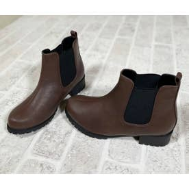 Mafmof(マフモフ) 防水タンクソールサイドゴア ブーツ (ダークブラウン・PU)