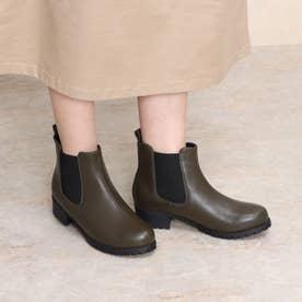 Mafmof(マフモフ) 防水タンクソールサイドゴア ブーツ (カーキ・PU)