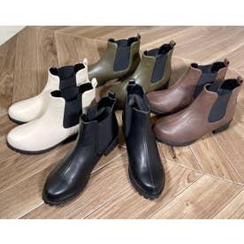 Mafmof(マフモフ) 防水タンクソールサイドゴア ブーツ (オフホワイト・PU)