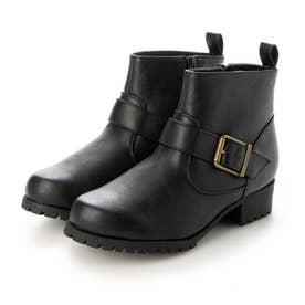 Realta(レアルタ)  タンクソールエンジニアショート ブーツ (ブラック・PU)