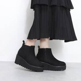 ElvisLuce(エルビスルーチェ) シャークソール厚底サイドゴア ブーツ (ブラック・スエード)