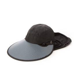 レディース ゴルフ キャップ フェイスマスク付きセルキャップ 711933 (ブラック)