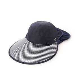 レディース ゴルフ キャップ フェイスマスク付きセルキャップ 711933 (ネイビー)