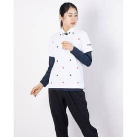 レディース ゴルフ セットシャツ 半袖シャツ+インナーセット 711504 (ホワイト)