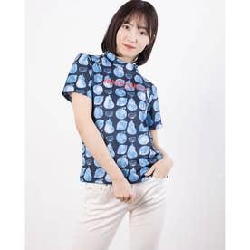 レディース ゴルフ 半袖シャツ 半袖シャツ 711609 (ネイビー)