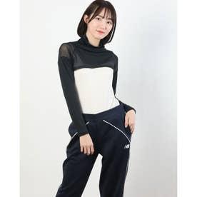 レディース ゴルフ 長袖コンプレッションインナー インナーショートシャツ 711908 (ブラック)