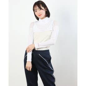 レディース ゴルフ 長袖コンプレッションインナー インナーショートシャツ 711908 (ホワイト)