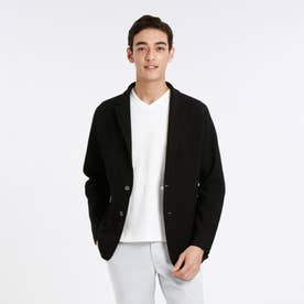 ポリエステルカノコホールガーメントジャケット (ブラック)