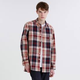 タータンチェック バッキンガムベア ボタンダウンシャツ (ベージュ)