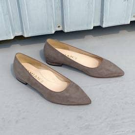 【 iCoN COLORS 】1.5cmヒール 痛くなりにくい 美脚 ポインテッドトゥ スエード カラーパンプス (全3色)/C20142 (グレージュS)