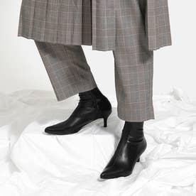 5.5cm ポインテッドトゥストレッチブーツ/5727 (ブラック)