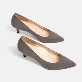 【 iCoN COLORS 】5.0cmヒール 痛くなりにくい 美脚 ポインテッドトゥ スエード カラーパンプス (全3色)/C57172 (グレージュS)