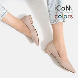 【 iCoN COLORS 】1.5cmヒール 痛くなりにくい 美脚 ポインテッドトゥ スムース カラーパンプス/C20143 (Pベージュ)