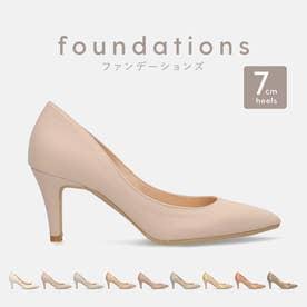 7.0cm 自分史上、最高美脚。ポインテッドトゥヌードベージュパンプス:iCon2 Foundations (全9色)/F7203 (エアリーチーク)