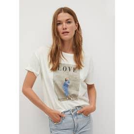 Tシャツ .-- PSSTRASI (ナチュラルホワイト)