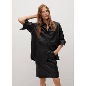 フェイクレザースカート .-- PENCIL (ブラック)