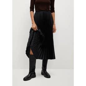 ロングスカート .-- PLISADO (ブラック)