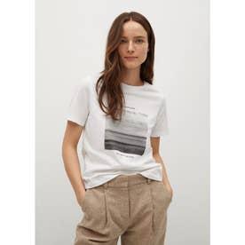 Tシャツ .-- PSGILU (ホワイト)