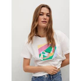 Tシャツ .-- PSWOMAN3 (ホワイト)