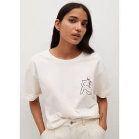 Tシャツ .-- PSTWASH (ホワイト)