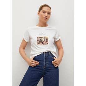 Tシャツ .-- PSTILU (ナチュラルホワイト)