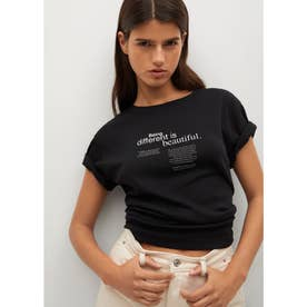 Tシャツ .-- PSTFAS (ブラック)