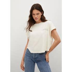 Tシャツ .-- SPCROP (ナチュラルホワイト)