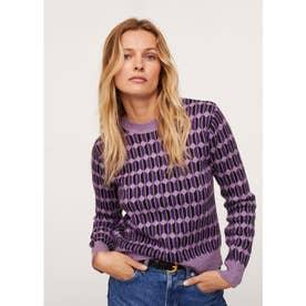 セーター .-- ALYSSA (ミディアムパープル)