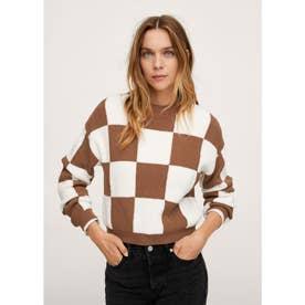 セーター .-- CHESS (ミディアムブラウン)