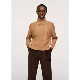 セーター .-- AMILLC (ミディアムブラウン)