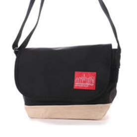 Suede Fabric Casual Messenger (Black)
