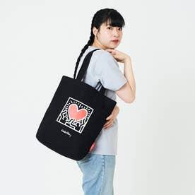 Packable Tote Bag Keith Haring (Black)