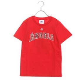 野球 半袖Tシャツ エンゼルス大谷 カモ柄プリント ジュニアTシャツ MM08LA9002