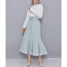 ギンガムマーメイドスカート(ブルー)