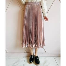 シャイニーランダムプリーツスカート(ピンク)