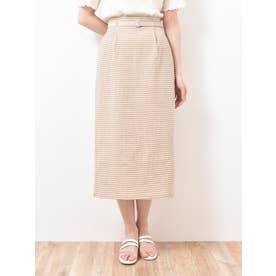 ヘルシーチェックIラインスカート(ベージュ)