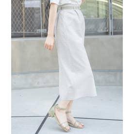 ヘルシーチェックIラインスカート(グリーン)