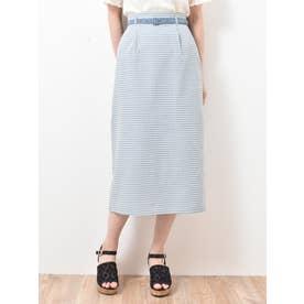 ヘルシーチェックIラインスカート(ブルー)
