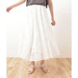 ペイズリーレーススカート(ホワイト)