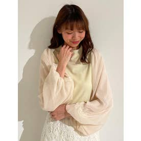 マスクsetバルーン袖トップス(ホワイト)