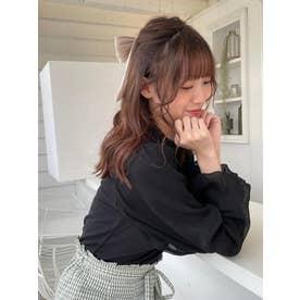 マスクsetバルーン袖トップス(ブラック)