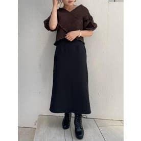 ∞ハイウエストIラインスカート(ブラック)