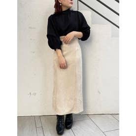スエードライクIラインスカート(ホワイト)