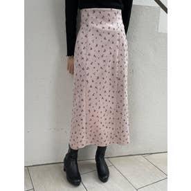 スエードライクIラインスカート(ピンク)