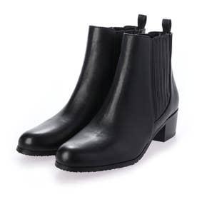 【防滑】シンプルサイドゴアブーツ (ブラック)