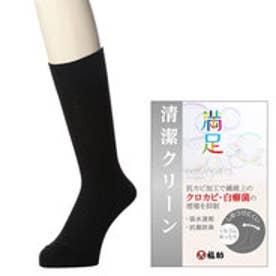 【福助】 《清潔クリーン》 紳士靴下 新ドクター鹿の子 口ゴムゆったり ソックス (ブラック)