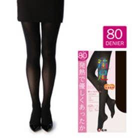 【福助】 【吸湿発熱+ソフトタッチ】 80デニール タイツ (ブラック)